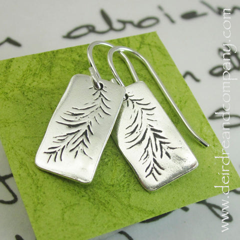 Pine Earrings in Sterling Silver