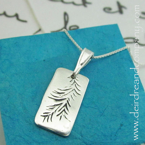 Pine Necklace in Sterling Silver