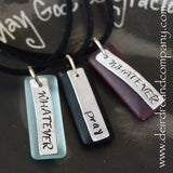 "Pray and Whatever Necklaces with Recycled ""Sea"" Glass"