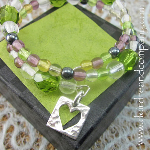Circle of Light  Prayer Bracelet in Peridot