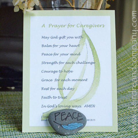 Caregivers Prayer Cards & Rock