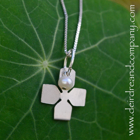 Purity Cross Necklace with Pearl