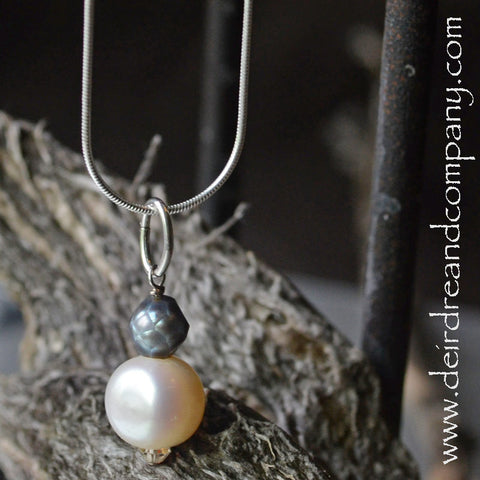Salt and Pepper Pearl Necklace