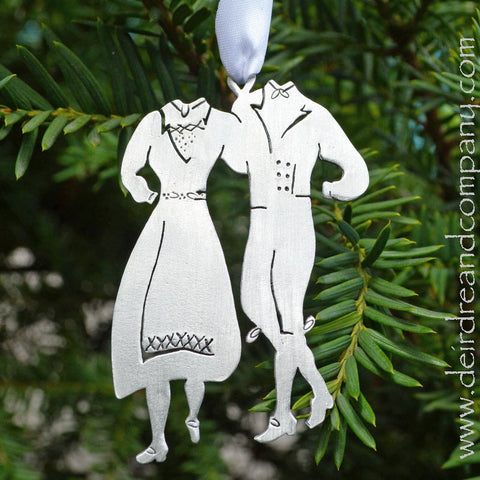 Washington Island Scandinavian Fest Dancers Ornament in Pewter