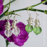 Cascade Earrings in Recycled Glass and Silver
