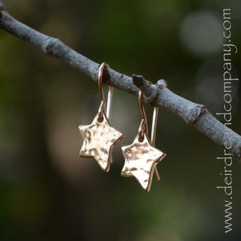 Shine Brightly Star Earrings in 14K Gold Vermeil