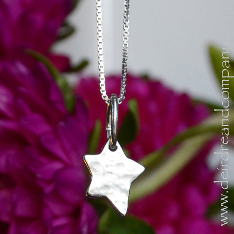 Shine Brightly Little Star Necklace in Sterling Silver