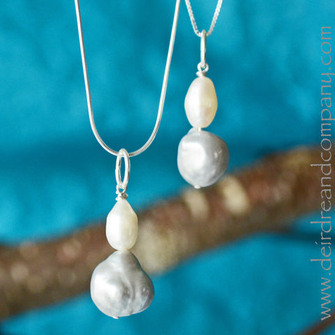 Silver Linings Pearl Necklace