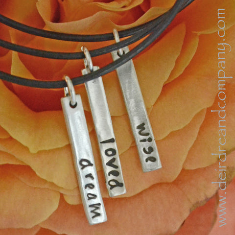 Blessing Bars Necklace in Sterling  ~ Blank ~ Customizable