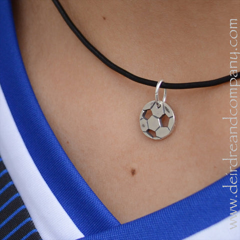 A Little Touch of Soccer Necklace in Sterling Silver