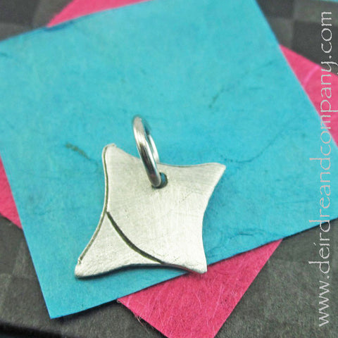 Square Charm in Pewter, Customizable