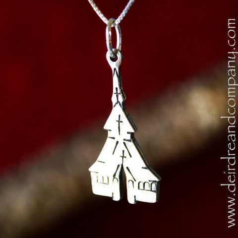 Stavkirke Necklace in Pewter