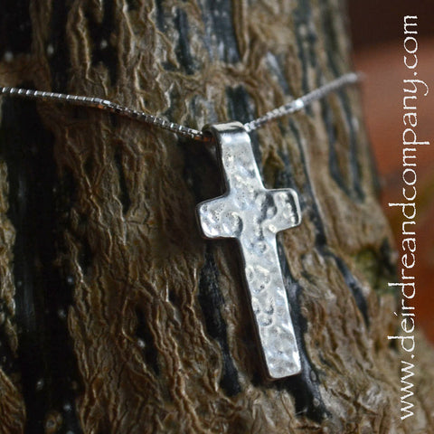 Take Joy Sterling Cross Necklace