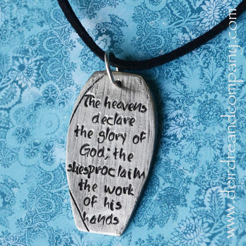 Pewter Necklace ~ The Heavens Declare