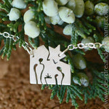 Away in a Manger Nativity Necklace in Sterling Silver