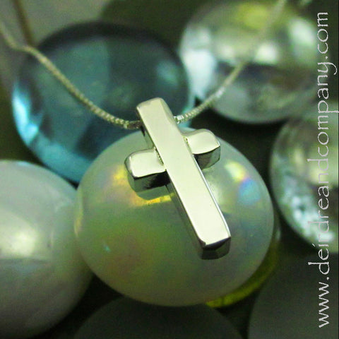 Peter Cross Necklace in Sterling Silver
