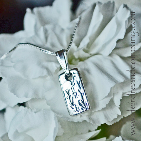 Tiny Rye Grass Necklace in Sterling Silver