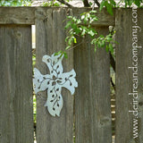 Vine Cross Wall Hanging in Stainless Steel