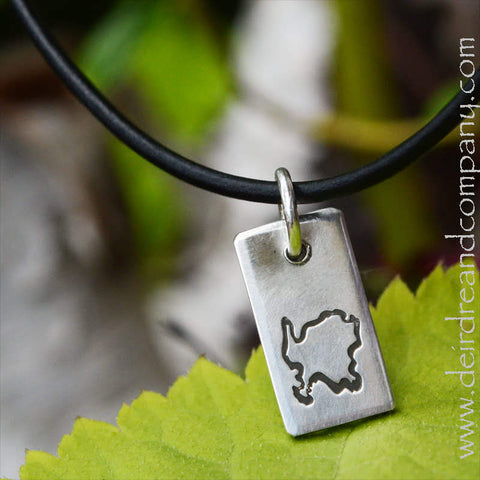 Washington Island Stamped Necklace in Sterling Silver