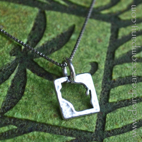 Wisconsin Whimsy State Necklace in Silver or Rose Gold