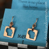 Wisconsin Whimsy Earrings in Sterling and Rose Gold Vermeil