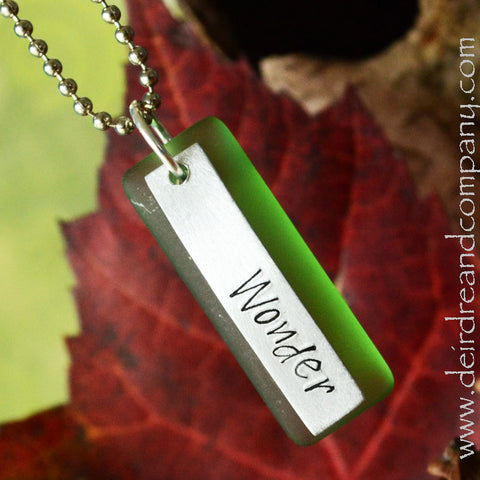 "Wonder ""Sea"" Glass Necklace"