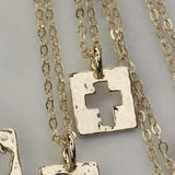 Be Amazed Cross Necklace in 14K Gold Vermeil