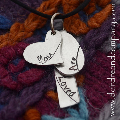 You Are Loved Pewter Necklace