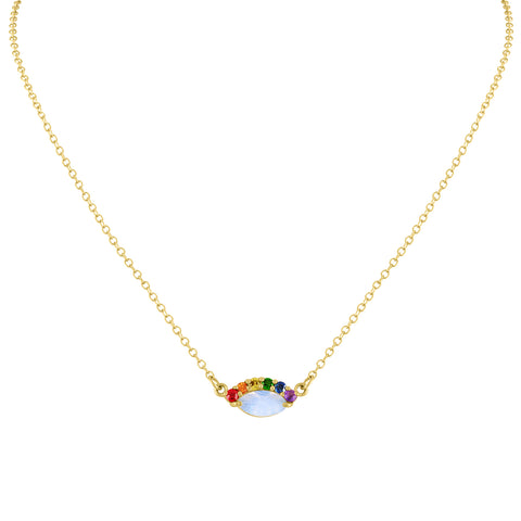 Rainbow Eye Necklace