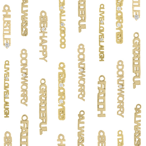 Golden Word Charms