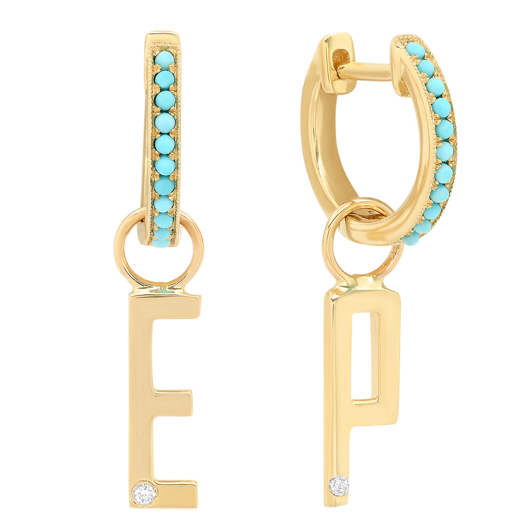 ABC x Eden Presley Initial Drop Earrings