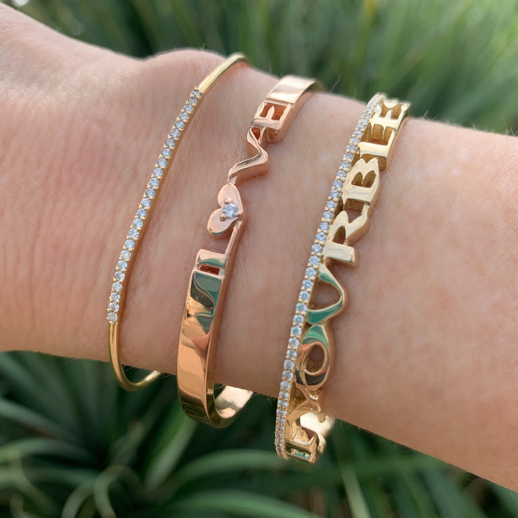 Golden Mantra Cuff