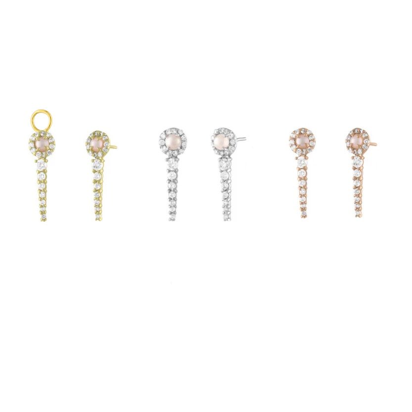 Pearl Graduating Diamond Ear Pin