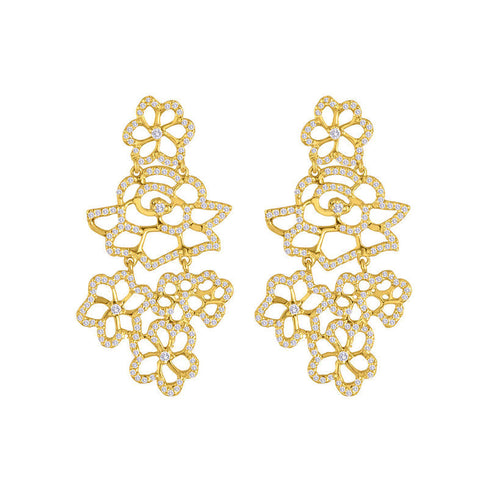 Bouquet Diamond Earrings