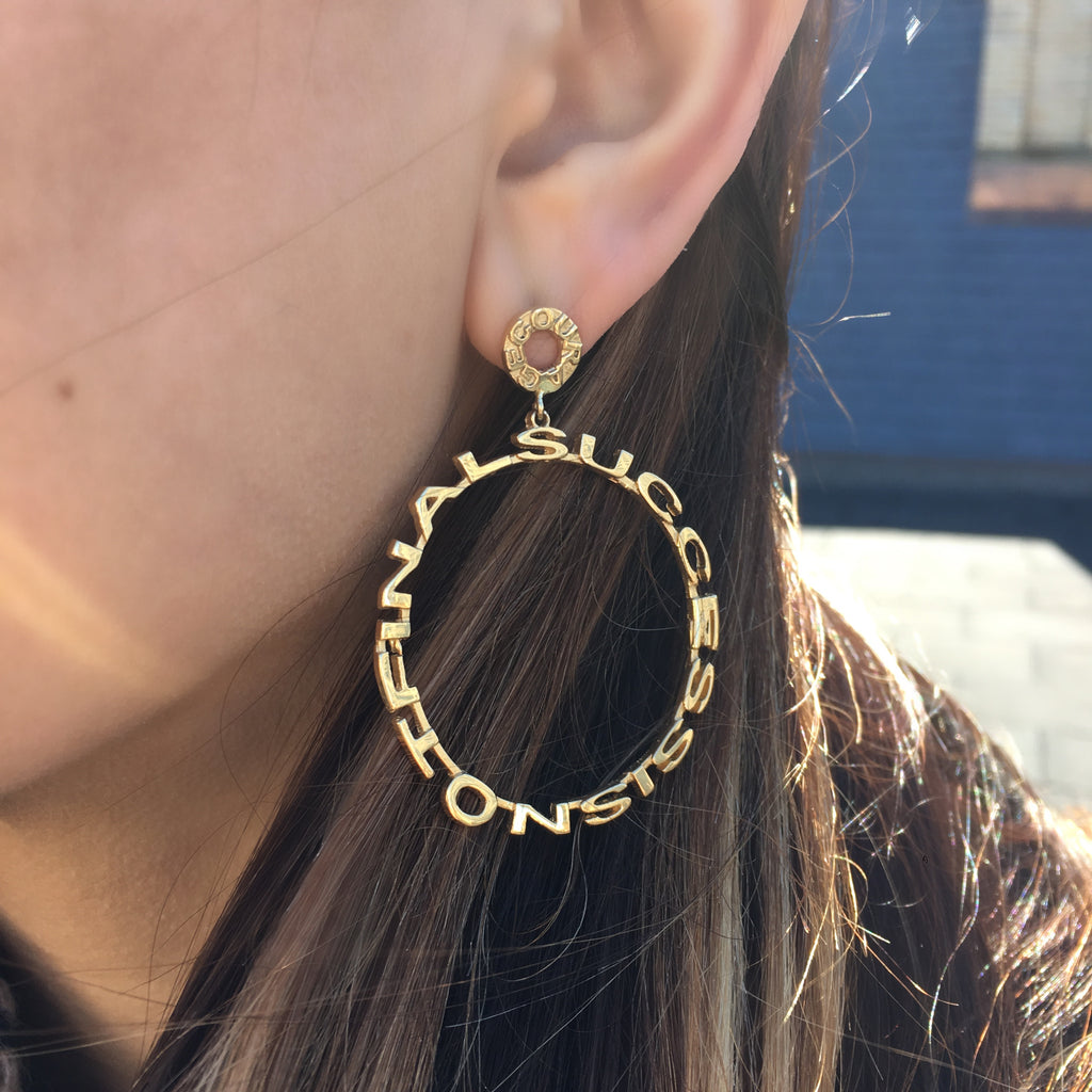 Courage Mantra Hoops
