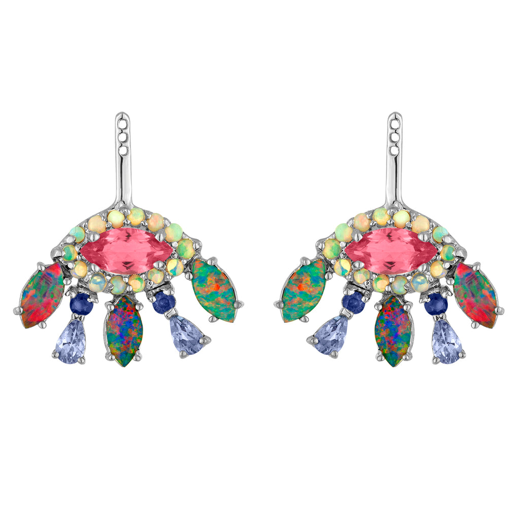 Marquise Opal Emerald Ear Jackets