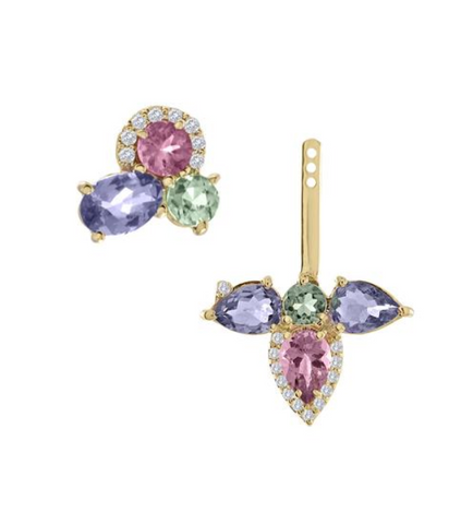 Tanzanite & Tourmaline Ear Jacket