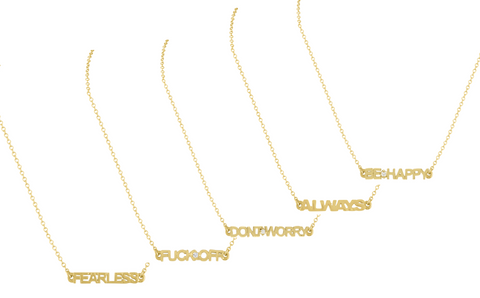 Golden Word Necklace