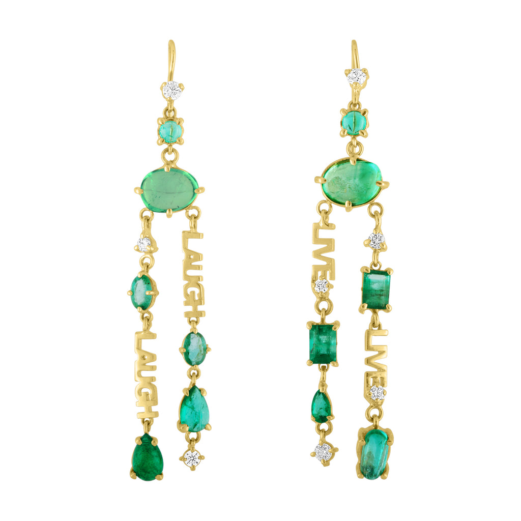 Live /Laugh Muzo Emerald Earring