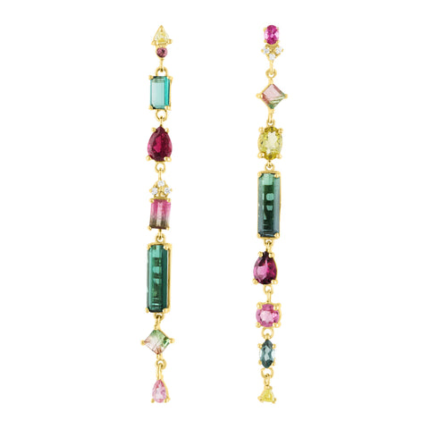 New Mixed Tourmaline Earrings