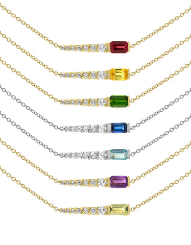 Color Pin Necklace