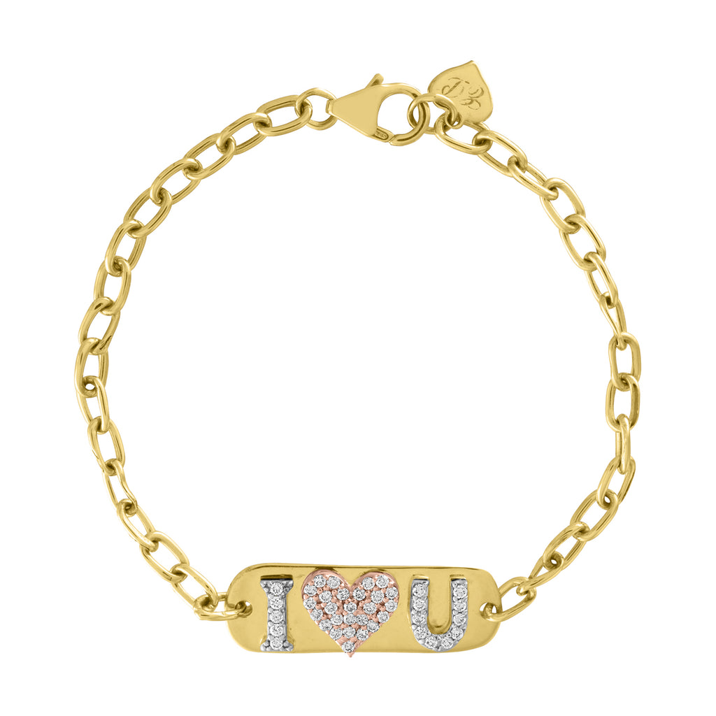 Three Initial ID Bracelet