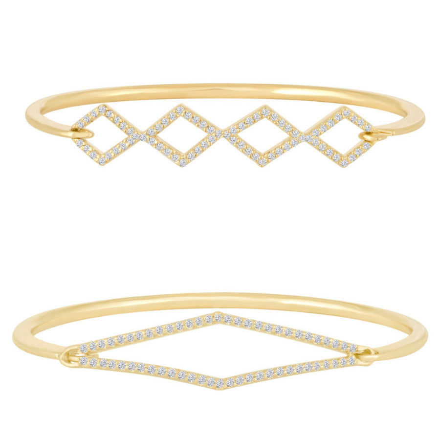 Harlequin Diamond Bangles