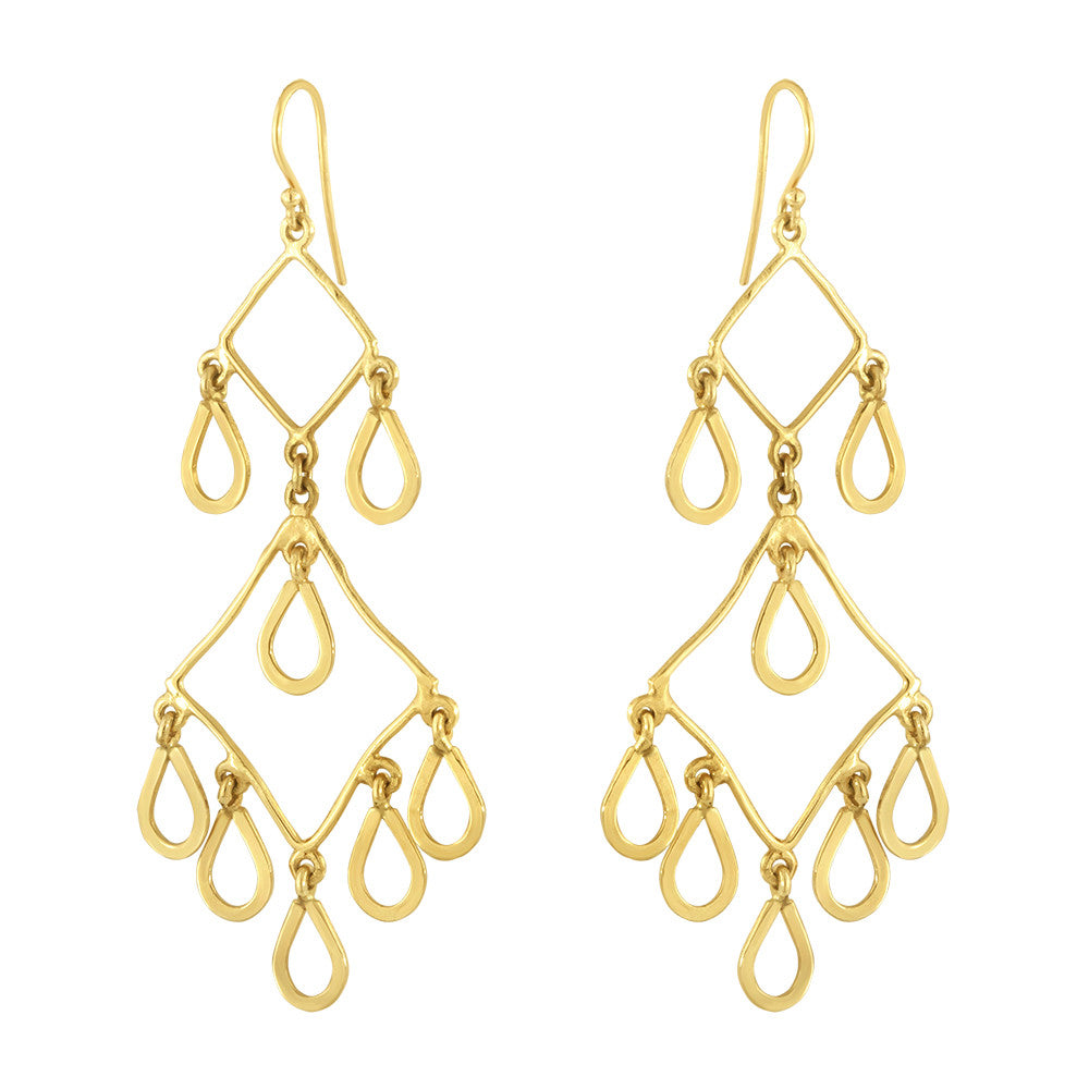 Golden Chandelier Earrings