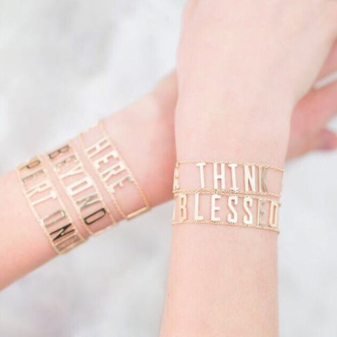 Golden Mantra Bracelet