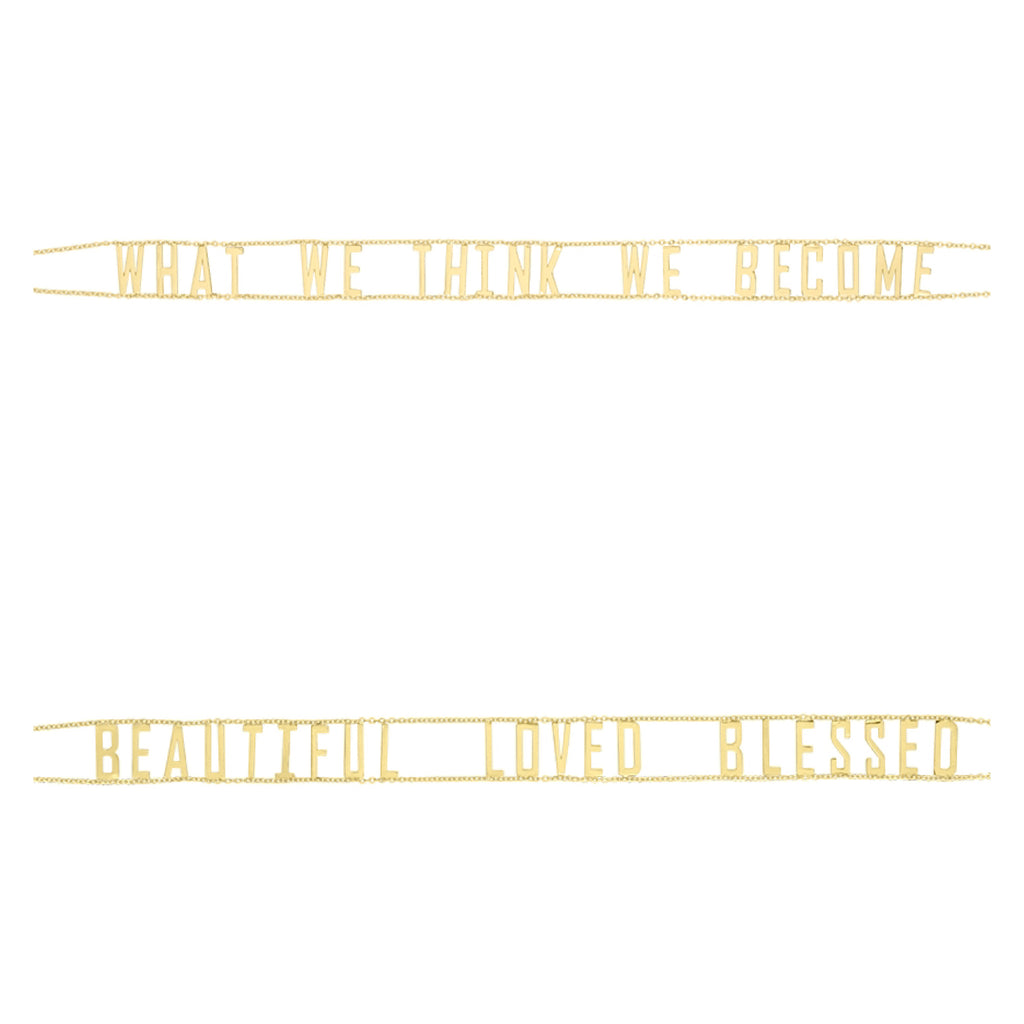 Golden Letters Mantra Choker