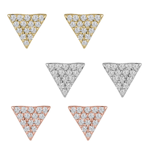 Mini Triangle Diamond Studs