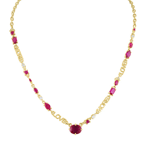 Love More Ruby Necklace