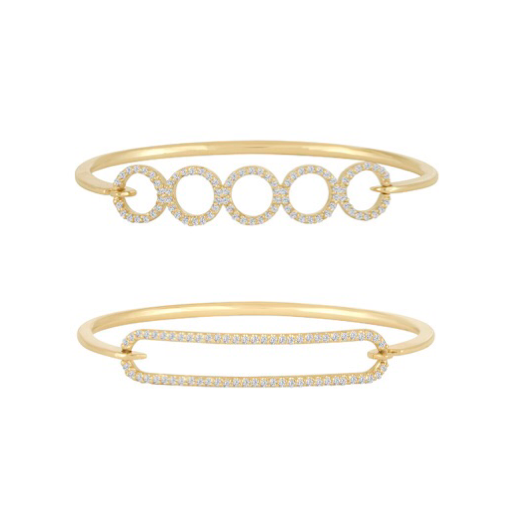 Circles Diamond Bangles