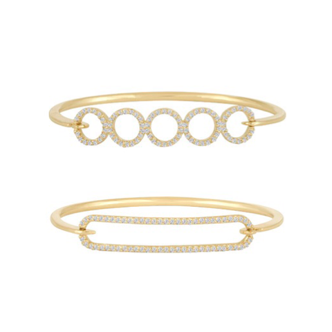 In Circles Diamond Bangles
